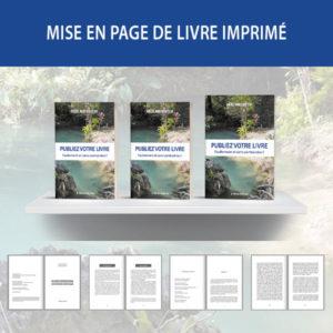 Mise en page de livre imprimé